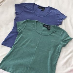 Sonoma cap sleeve tee shirts set of two